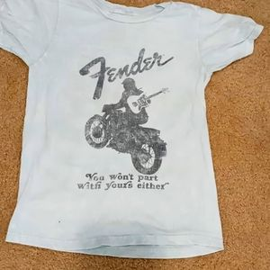 Fender kids tee. Light distressed blue.